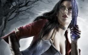 Картинка взгляд, девушка, оружие, арт, револьвер, katarina, Dungeon Siege 3