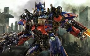 Обои Transformers 3 Dark of the Moon, Трансформеры 3 Тёмная сторона Луны, Optimus Prime