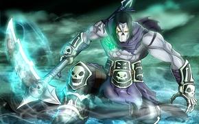 Картинка THQ, Darksiders, Death, scythe, Vigil Games, Harvester, Nephilim