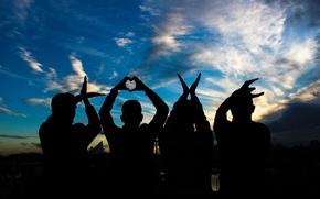 Картинка любовь, руки, love, слово, people, hands, letters, silhouettes