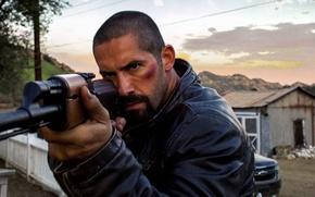Картинка Ford, cinema, gun, weapon, man, movie, AK-47, shotgun, film, martial artist, Scott Adkins, powerful, strong, …