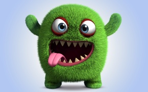 Картинка монстр, monster, smile, cartoon, персонаж, funny, cute, fluffy