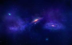 Картинка космос, звезды, галактики