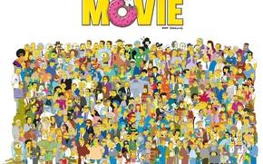 Обои симпсоны, персонажи, the simpsons movie