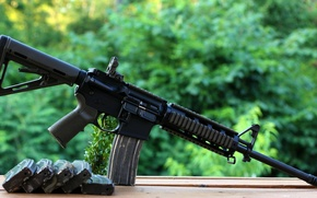Картинка Автомат, обоймы, assault rifle, AR-15, штурмовая винтовка