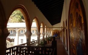 Картинка widescreen, обои, церковь, арка, храм, wallpaper, арки, широкоформатные, background, обои на рабочий стол, икона, иконы, …