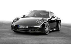 Обои купе, 911, Porsche, черная, порше, Black, Coupe, Carrera, 2015