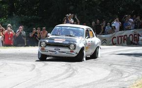 Картинка Ford, поворот, занос, Race, Escort, Ford Escort Mk1, Rallye du Tessin