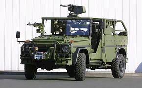 Картинка Mercedes-Benz, gun, Mercedes Benz, weapon, machine gun, heavy weapon, military vehicle, Mercedes Benz G Klasse …
