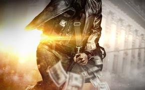 Обои Battlefield: Hardline, Грабеж, Robbery, Battlefield Hardline: Robbery, Сумка, Деньги, Visceral Games, Electronic Arts, Бронежилет, Свет, ...