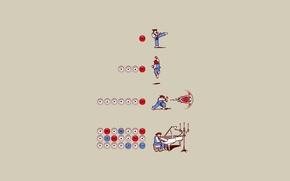 Картинка атака, игра, минимализм, боец, прикол, 8бит, комбо