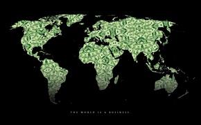 Картинка мир, карта, деньги, доллар
