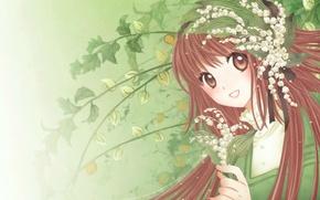 Картинка улыбка, ландыши, art, CLAMP, symphony of colors, kobato hanato
