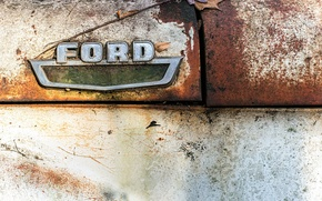 Обои ford, знак, макро