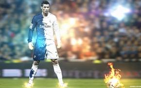 Картинка футбол, звезда, форма, Cristiano Ronaldo, Роналдо, Fly Emirates
