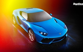 Картинка Lamborghini, Top Gear, Blue, Front, Asterion, LPI 910-4