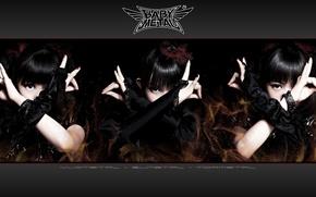 Картинка kawaii, music, metal, rock, flower, dress, fox, gothic, model, pretty, singer, ninja, asian, pose, mask, …