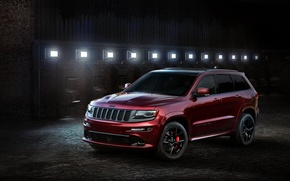 Картинка свет, Night, Jeep, Grand Cherokee
