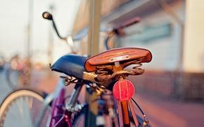 Картинка велосипед, размытие, сиденье