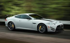 Картинка car, Jaguar, road, speed, XKR-S