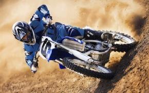 Обои мотоцикл, мотокросс, песок