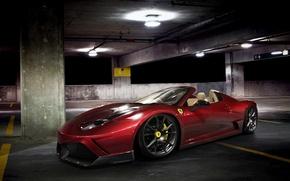 Картинка car, машина, авто, ночь, Феррари, парковка, Ferrari, суперкар, red, supercar, красная, 458, night, parking, avto, …