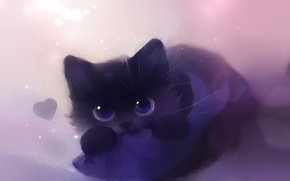 Обои кошка, рисунок, кот
