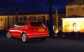 Картинка Audi, TDI, red, 2.0, Sportback