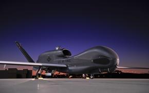 Обои manufactured in the USA, UAV, modern warfare, unmanned aerial vehicle, Northrop Grumman, sunset, made in ...