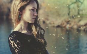 Картинка девушка, модель, шатенка, симпатичная
