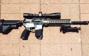 Картинка оружие, оптика, карабин, автоматическая винтовка