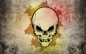Картинка стиль, узоры, череп