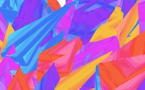 Обои линии, краски, цвет, фигура