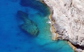 Картинка море, волны, пейзаж, скала