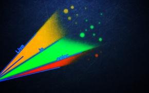 Картинка цветные, красочные, live in color
