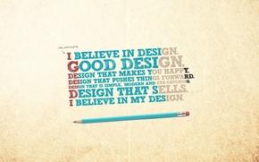 Обои минимализм, wallpapers, креатив, карандаш, фон, Creative, обои, надпись