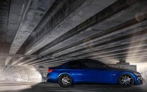 Картинка Тюнинг, Синяя, БМВ, Car, Coupe, Tuning, Купэ, Сбоку, BMW. E92