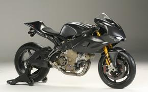 Картинка черный, мотоцикл, байк