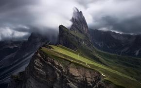 Картинка облака, горы, туман, Альпы