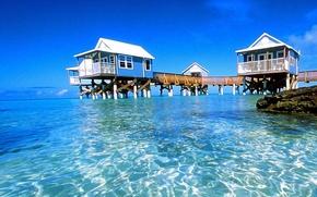 Картинка океан, отель, Бермуды