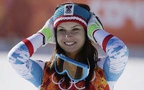 Картинка Austria, world champion, ski, Sochi, Olympic champion, Anna Fenninger, Eisbar, Uvex, Олимпийская чемпионка
