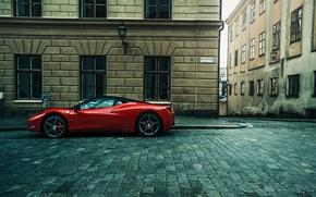 Картинка город, улица, supercar, феррари, ferrari 458 Italia