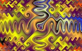 Обои линии, отражение, краски, узор, симметрия