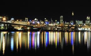Картинка город, огни, Австралия, water, Australia, skylines, lighs