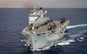 Обои оружие, армия, флот, Helicopter Carrier, HMS Ocean (L12)