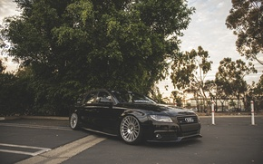 Картинка Audi, wheels, black, wagon, avant
