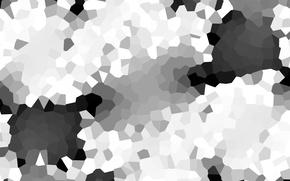 Картинка черно-белый, плитка, обычный, Кристаллизация