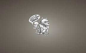 Картинка надпись, собака, минимализм, пропеллер, прикол, Малыш и Карлсон, Karlsson