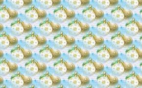 Обои шары, арт, фон, текстура, праздник, Новый год, шарики