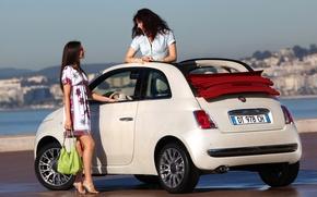 Картинка Fiat, девушки, 500C